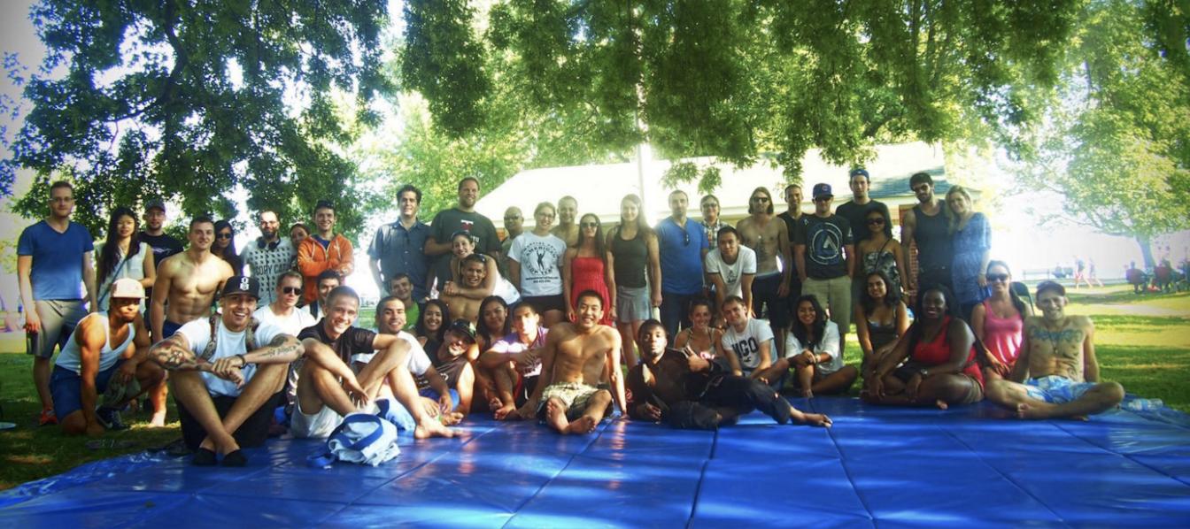 Martial arts schools facilitate secular congregation.