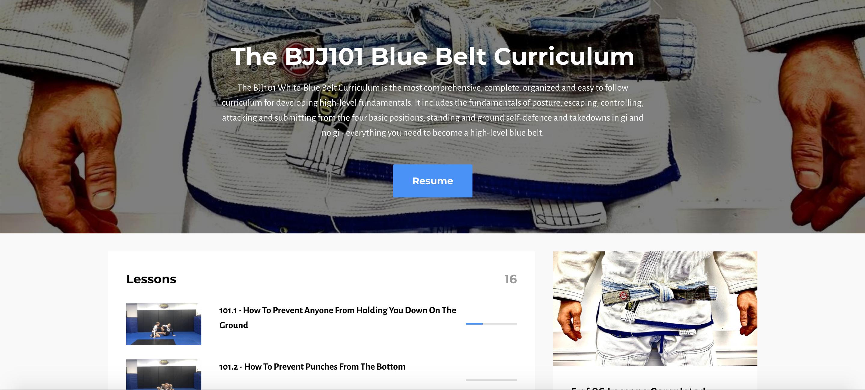 The BJJ101.tv Blue Belt Curriculum