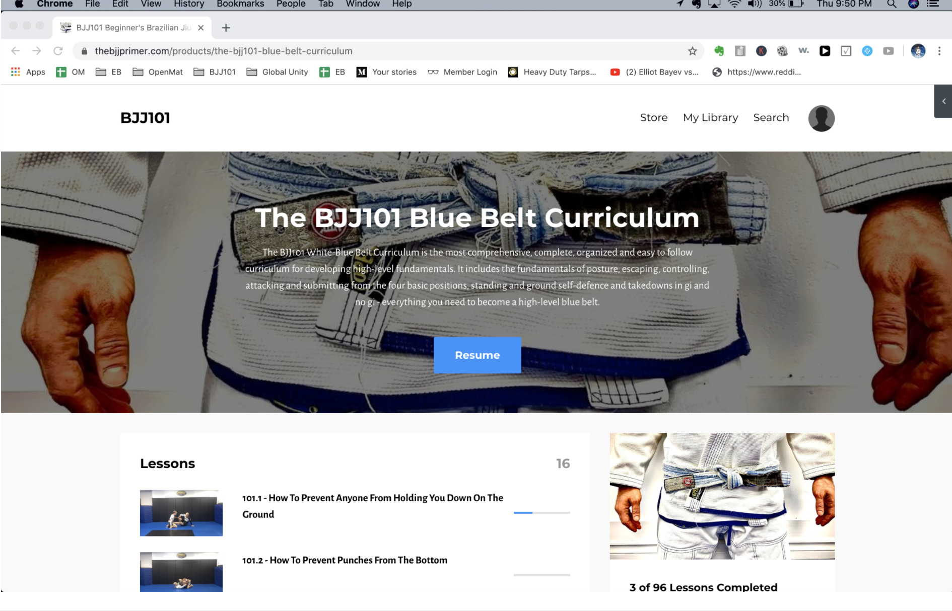 The White-Blue Belt Curriculum